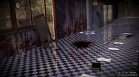 3d model horror school lockers