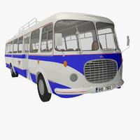3d historical bus
