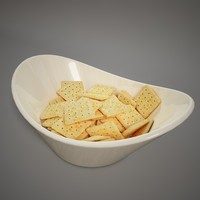 3d model china bowl crackers