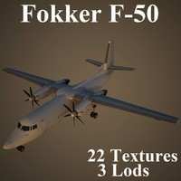 3d model of fokker air airlines