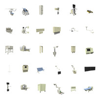 equipment hospital 3d x