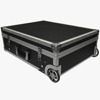 3d metal trolley suitcase