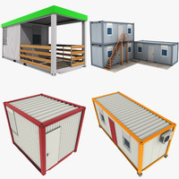 3d office containers pack
