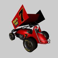 3d model sprint car
