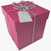 3d max square gift box