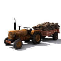 Tractor with Gunny Bag
