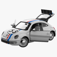 volkswagen beetle 2012 race car 3d max