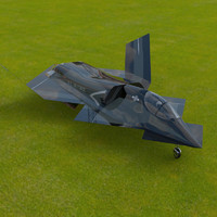 3d model of yf-23 phantom poser
