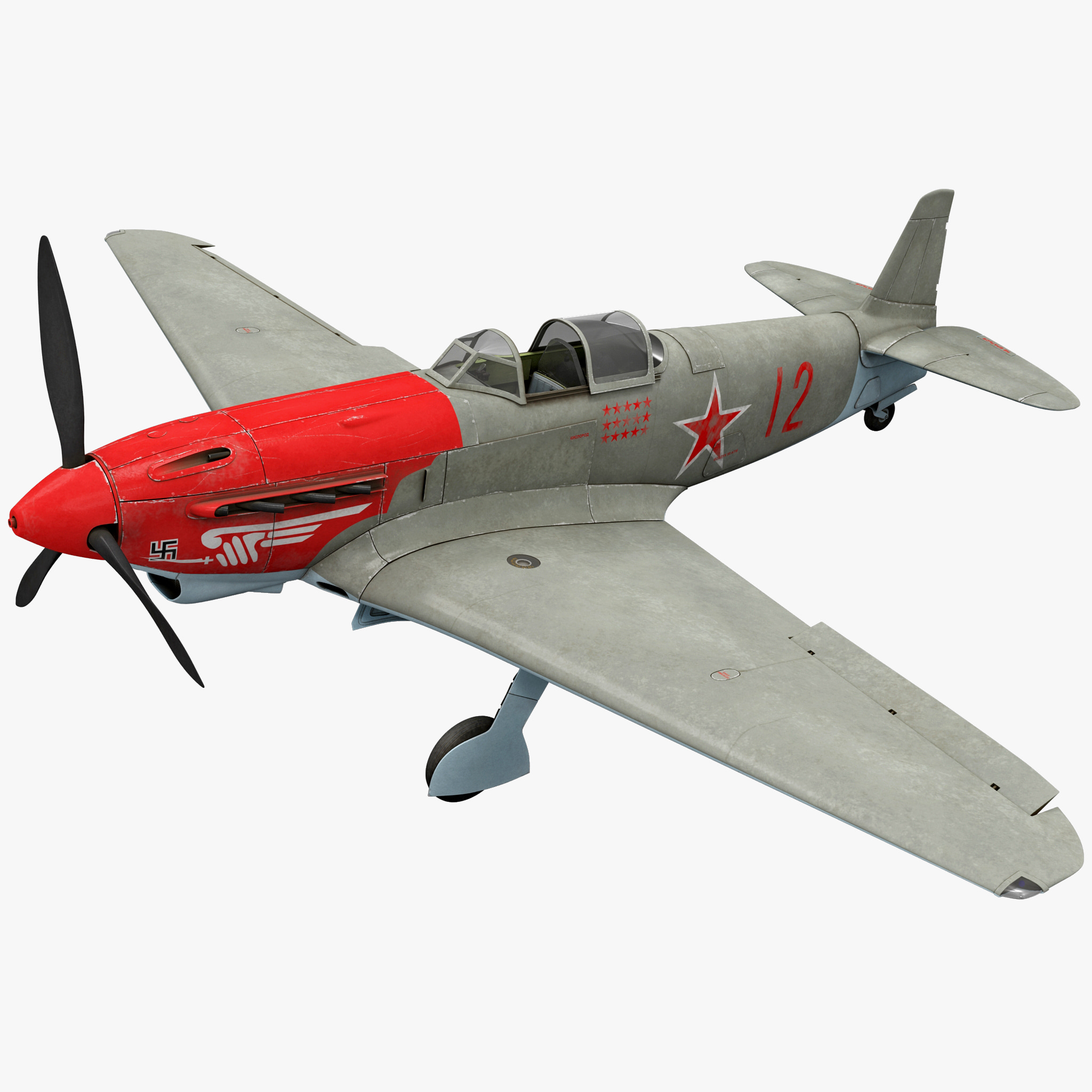 Yakovlev Yak-9 Soviet World War II Fighter Rigged_315.jpg
