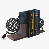 3d globe bookend books