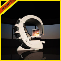 3d hitech modern chair work station model