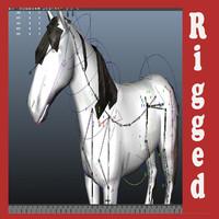 horse rig 3d ma