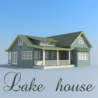 3ds max lake house