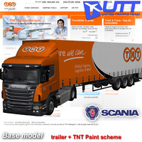 3d model scania g trailer tnt