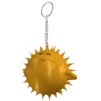 hanging boss star smiley 3d obj