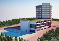 grand hotel 3d max