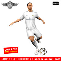 soccer player real 3d max