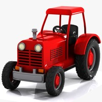 cartoon tractor toon 3d 3ds