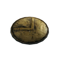 free golden shield 3d model