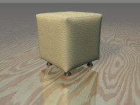 3ds max stool white