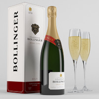 3ds max champagne bollinger
