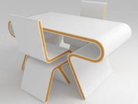 Futuristic Furniture: Ultramodern Desk & Chair Design Set