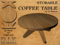 3d model storable table