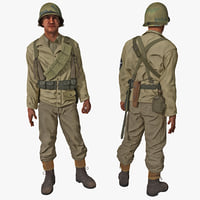 3d american wwii infantry soldier