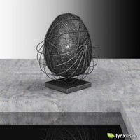 stone egg sculpture 3d obj