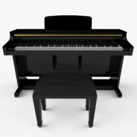 piano digital 3d 3ds