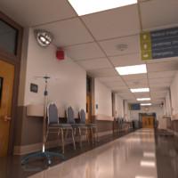 hospital hallway 3d model