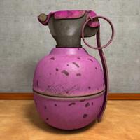 3d fragmentation grenade model