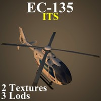 3d max eurocopter low-poly helicopter