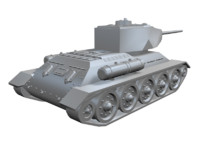 free world war tank 3d model