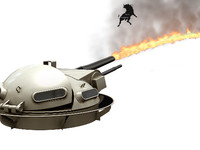 3d model flamethrower turret zippo