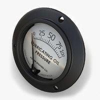 3d model engine oil pressure gauge