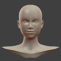 obj based female head