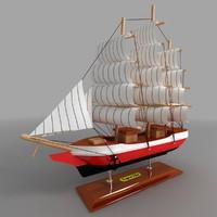 3d decorative ship model
