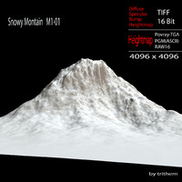 snowy mountain m1-01 3d max