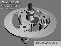 3d model of planetary gear set