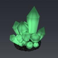 3dsmax magic glowing crystal