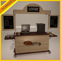 3ds max coffee cart