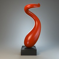 3d model of sculpture curl