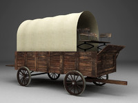 old wagon 3d x