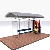 bus stop 3d model