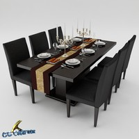 3ds max dining table set