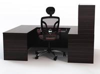 computer desk workstation chair office 3ds