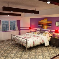 3d stylish scene