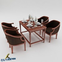3d 3ds dining table set
