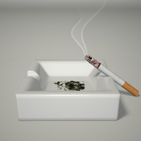 3d cigarette s ashes model